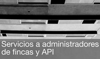 Servicios a administradores de fincas y API