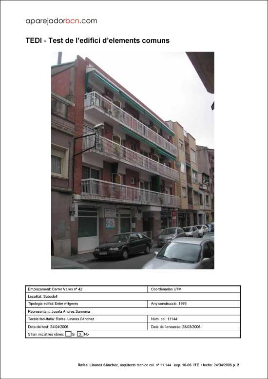 TEDI C/ Valles nº 42. 08205 - Sabadell.