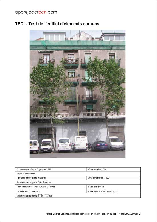 TEDI C/ Pujades nº 272. 08005 - Barcelona.