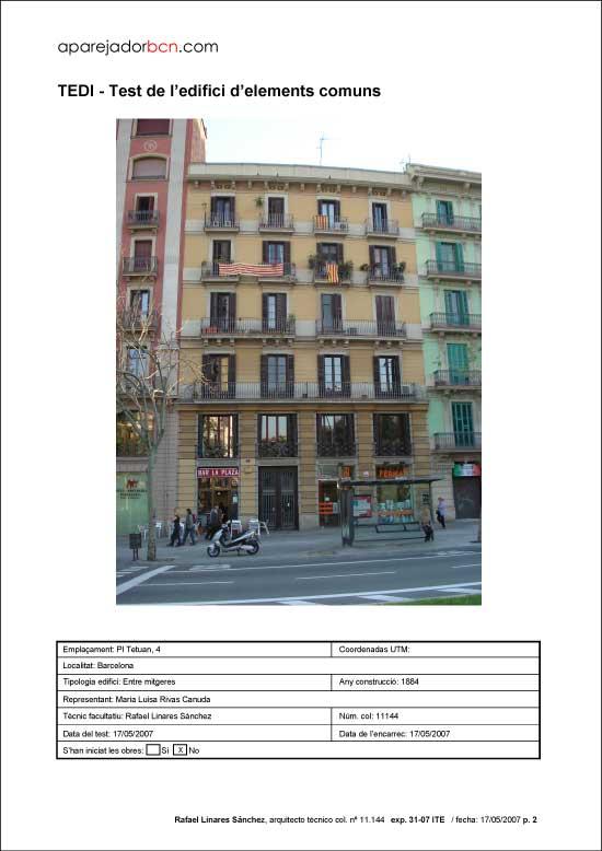 TEDI Pl. Tetuan nº 4. 08002 - Barcelona.