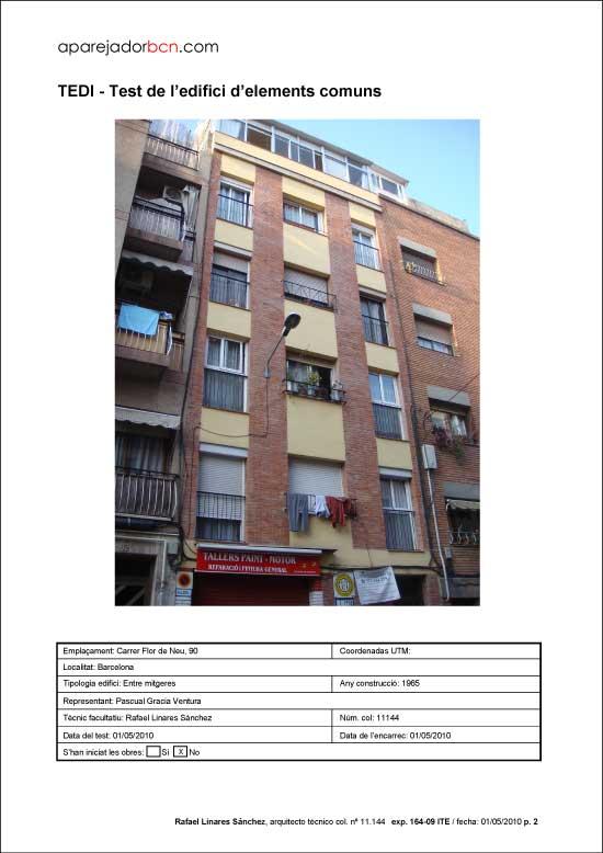 TEDI C/ Flor de Neu nº 90. 08016 - Barcelona.