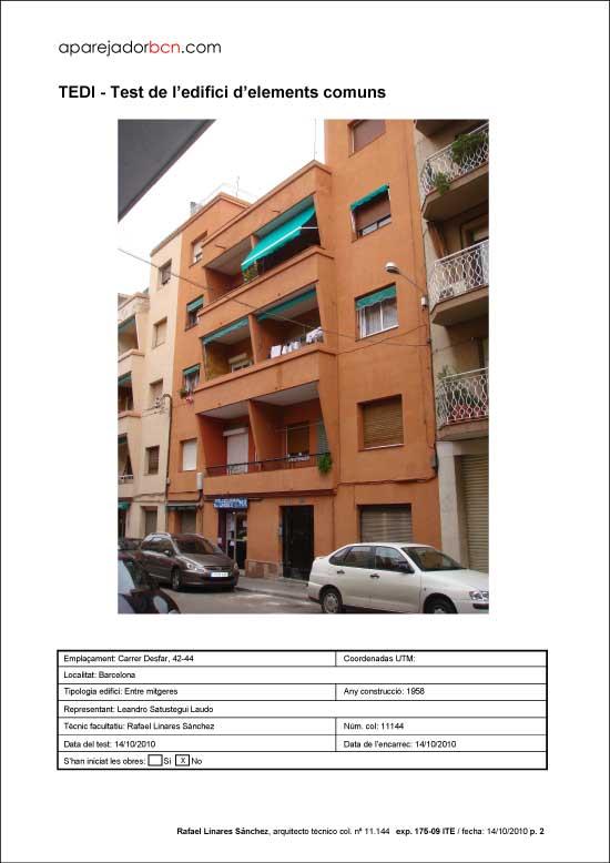 TEDI C/ Desfar nº 42-44. 08016 - Barcelona.