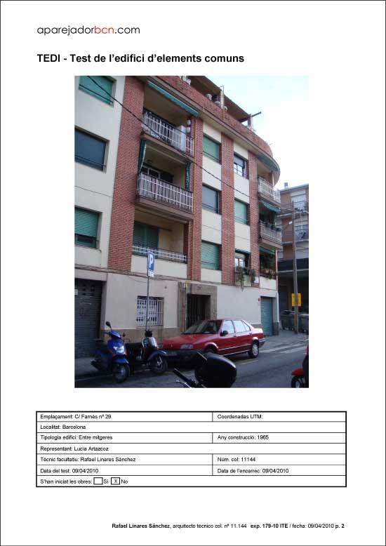 TEDI C/ Farnès nº 29. 08032 - Barcelona.