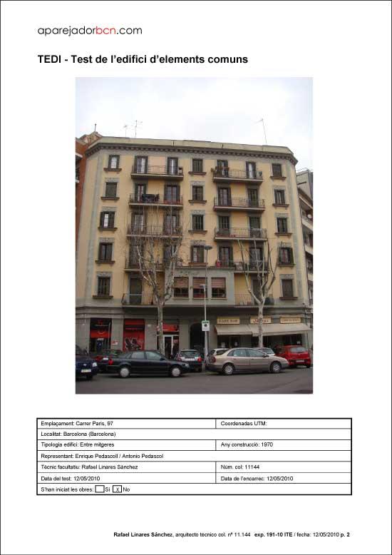 TEDI C/ Paris nº 97. 08029 - Barcelona.