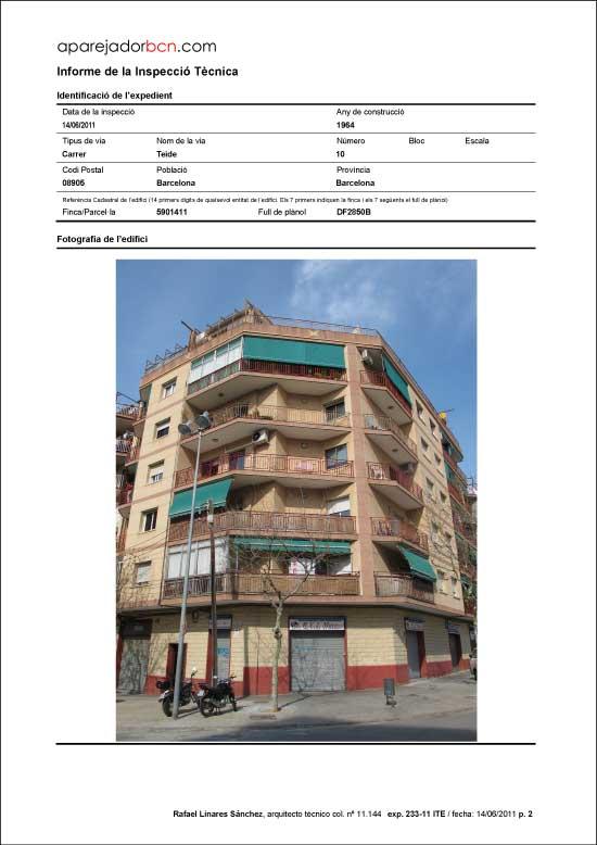 ITE C/ Teide nº 10. 08905 - L'Hospitalet de Llobregat.