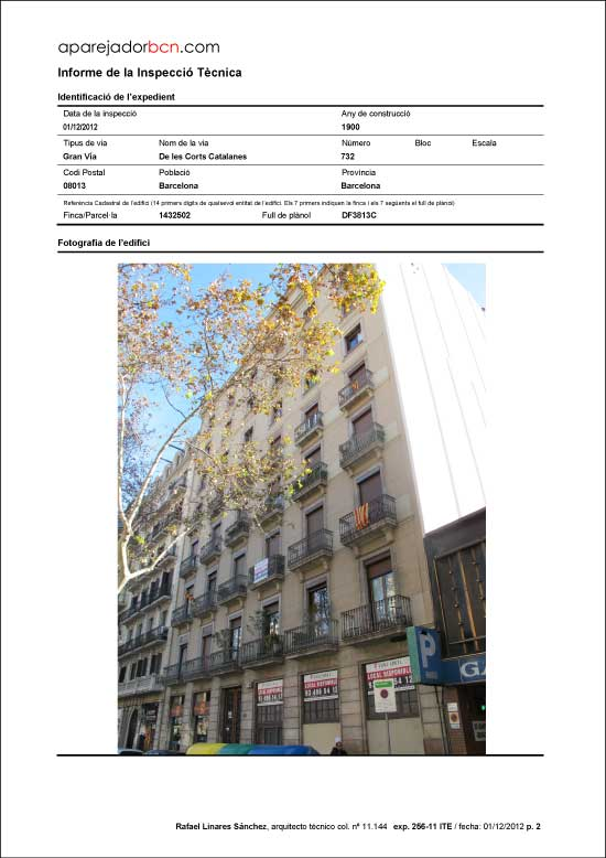 ITE Gran Vía de les Corts Catalanes nº 732. 08013 - Barcelona.