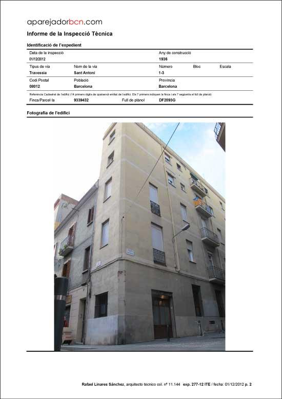 ITE Travessia Sant Antoni nº 1-3. 08012 - Barcelona.