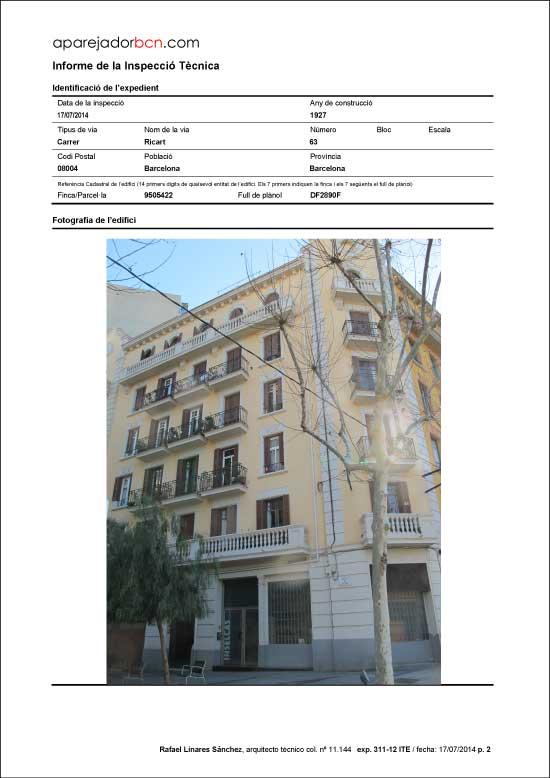 ITE C/ Ricard nº 63. 08004 - Barcelona.
