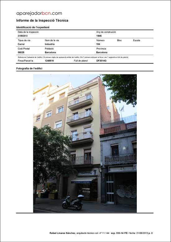 ITE C/ Industria nº 184. 08025 - Barcelona.