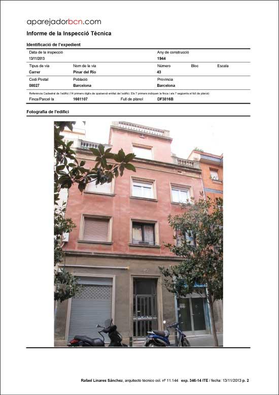 ITE C/ Pinar del Río nº 43. 08027 - Barcelona.