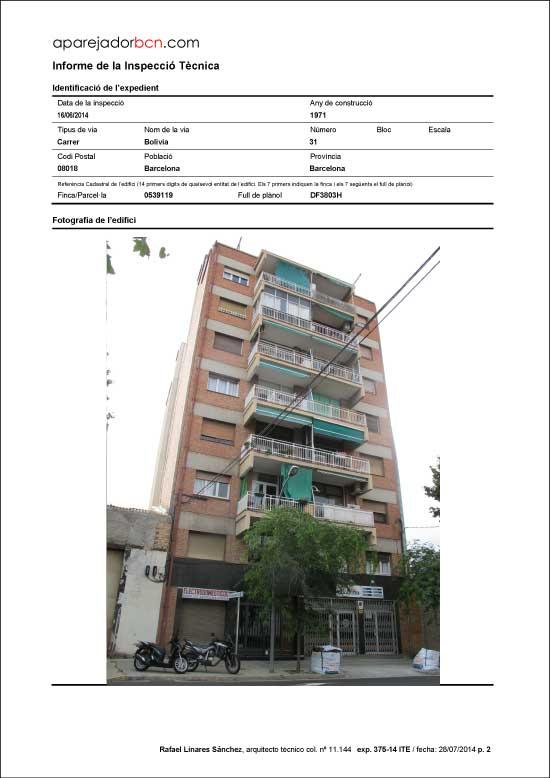 ITE C/ Bolivia nº 31. 08018 - Barcelona.