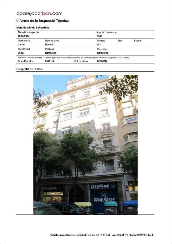 ITE C/ Roselló nº 343. 08037 - Barcelona.